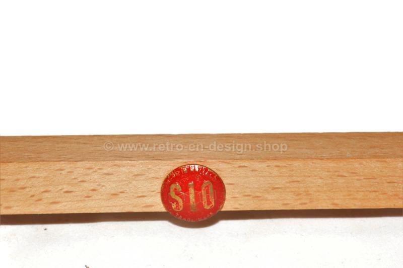 Plateau tournant vintage en bois de scrabble dans son emballage d'origine