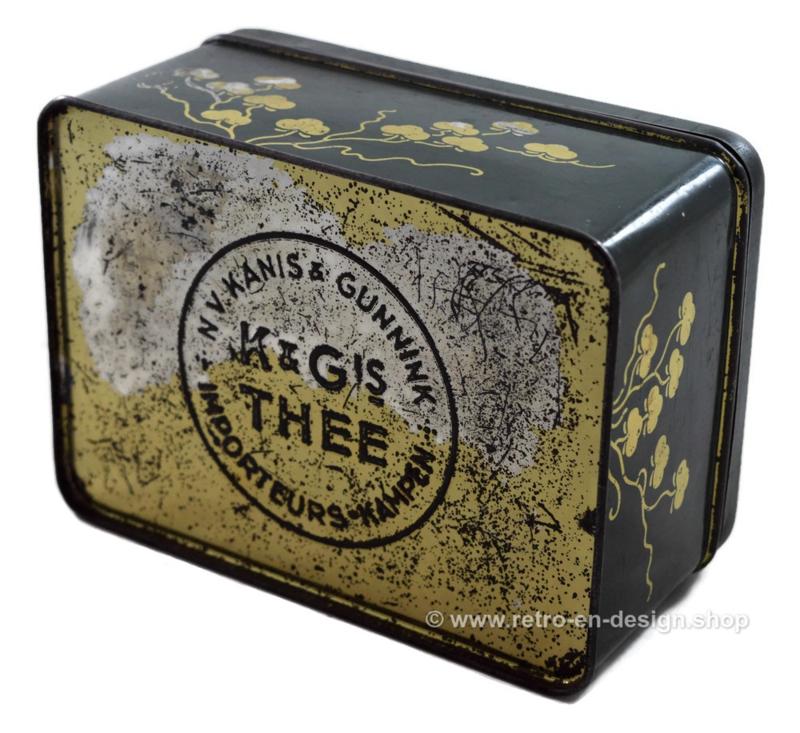 Vintage tea tin by Kanis & Gunnink