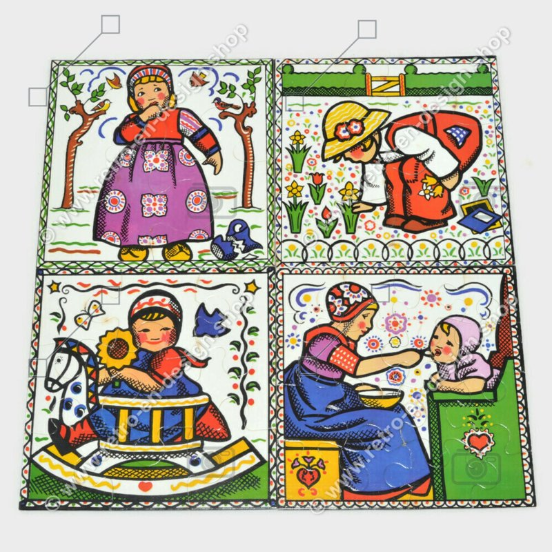 Vintage jigsaw puzzles from Rie Cramer manufactured by Jumbo, Kiddy Puzzles