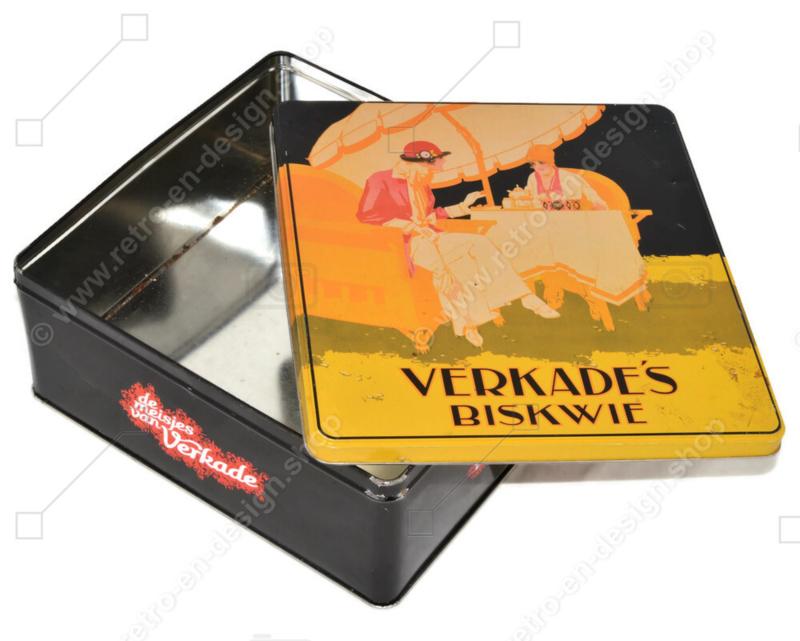 Nostalgic biscuit tin Verkade's Biskwie, the girls of Verkade