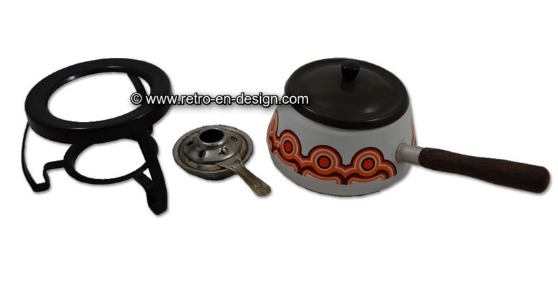 Enamel fondue set by Brabantia. Bayon series