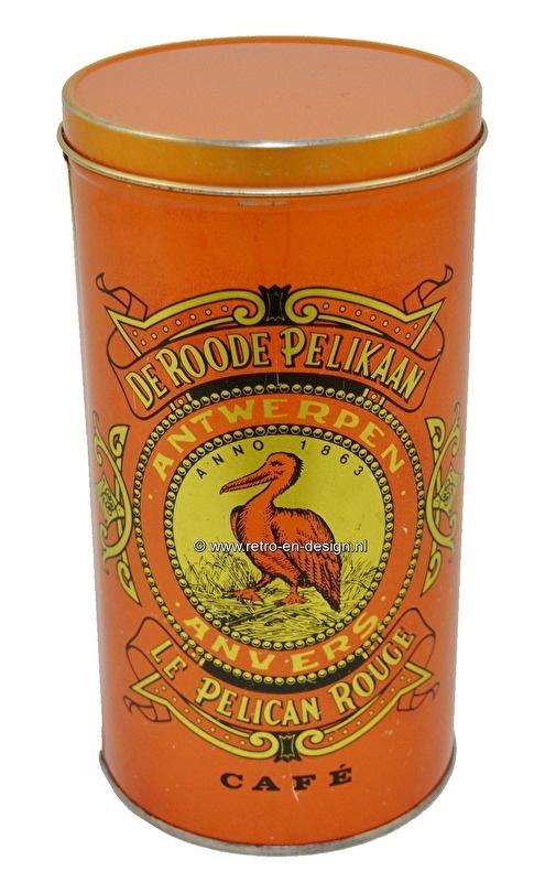 De Roode Pelikaan (Red Pelican) Coffee tin