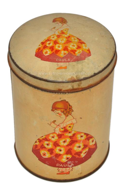 """Vintage beschuitbus """"Paula"""", van bakkerij Paul C. Kaiser 1930-1950"""