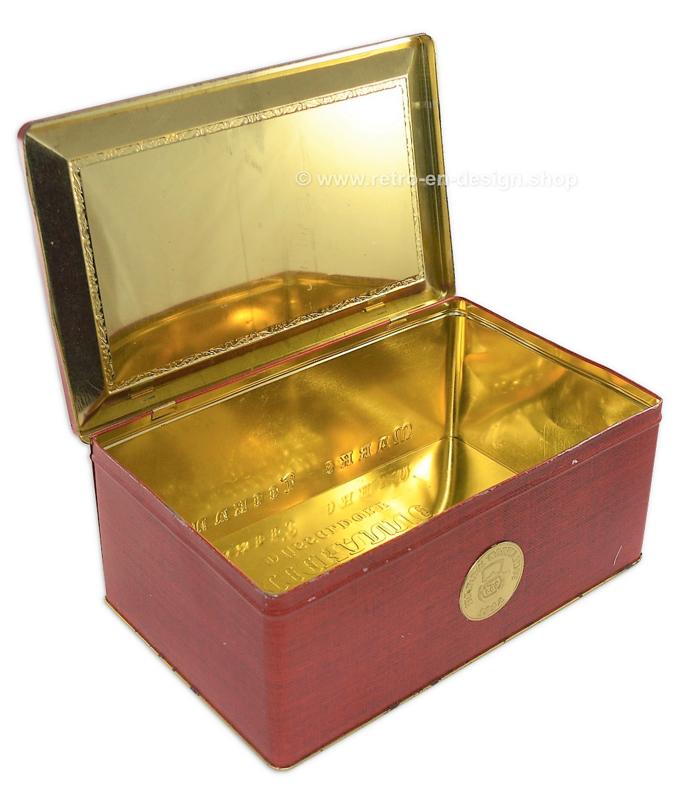 Large rectangular vintage tin Marke Teekanne Dusseldorf