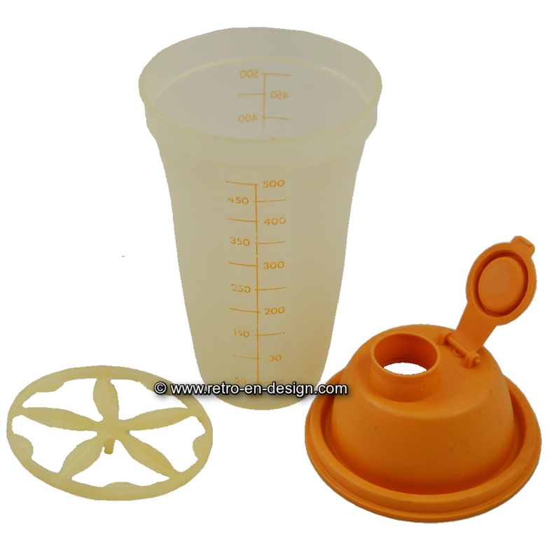 Vintage Tupperware 'alles-in-één' shaker, maatbeker, Quick Shaker