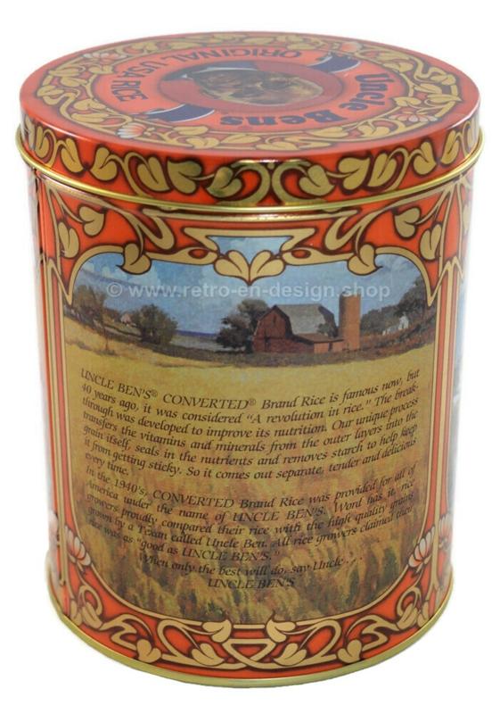'Uncle Bens Rice' Vintage blik voor het bewaren van rijst