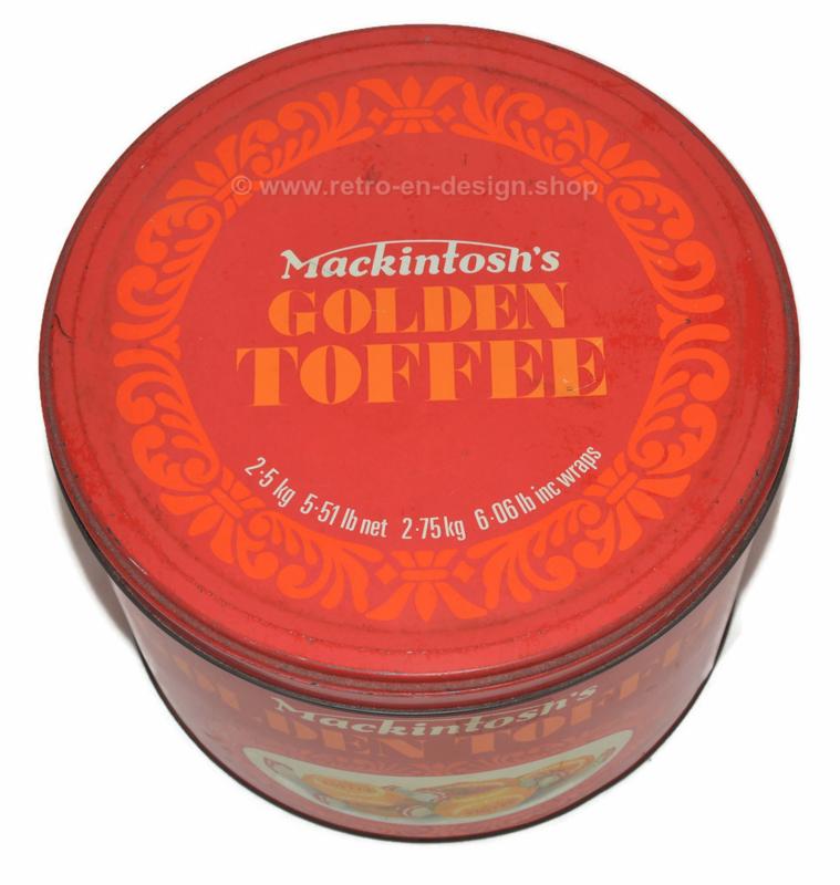 Vintage Blechdose für Mackintosh's Golden Toffee