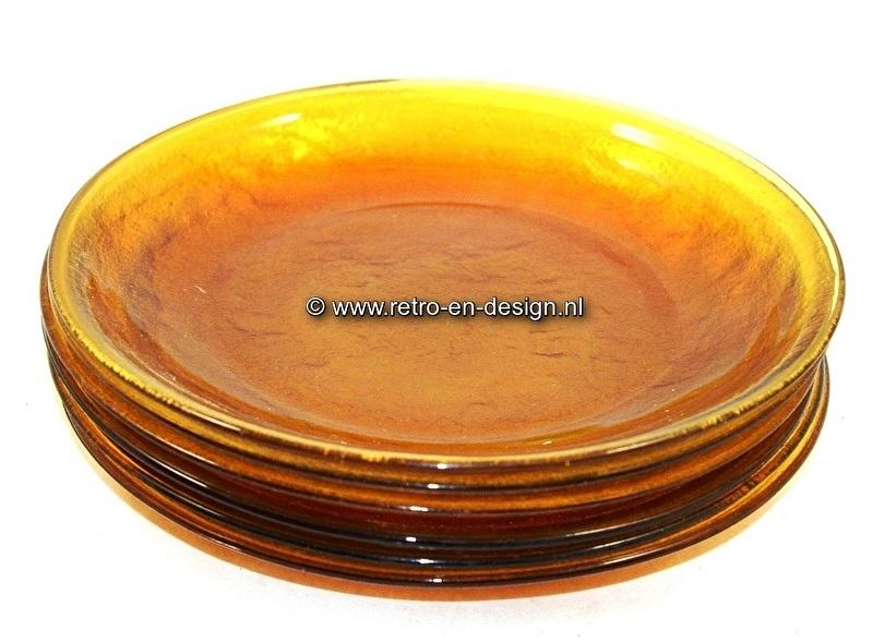 Arcoroc Sierra, bruin glaswerk, boterhambord, ontbijtbord