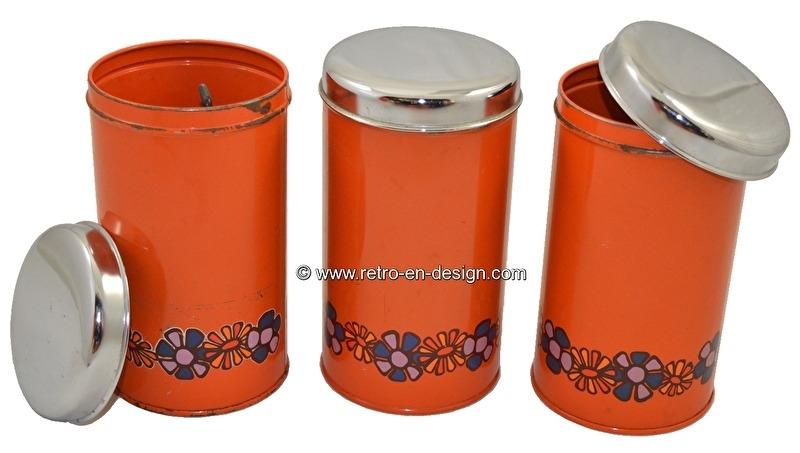 """Set vintage Brabantia biscuit tins from the 70s. """"Diana"""""""