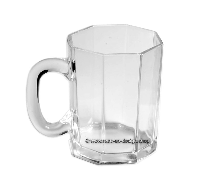 Glass mug made by Arcoroc France, Luminarc Octime clear