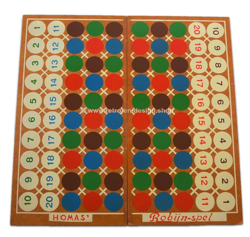 Robijn, vintage bordspel uit de jaren '50 van Homas