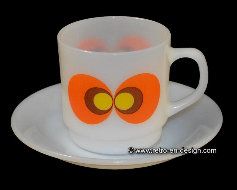 Jena glas 'Carina' koffiekop en schotel