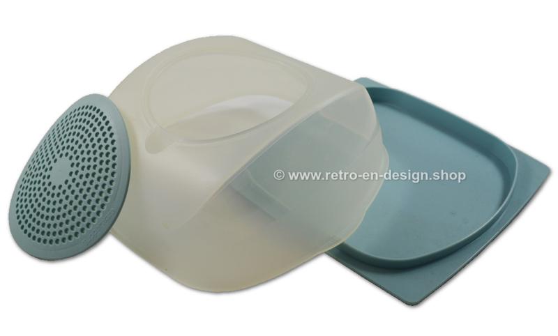 Tupperware CheeSmart vierkante kaasdoos, lichtblauw