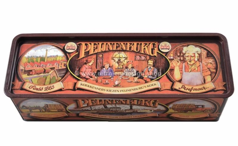 Rectangular vintage tin for Pijnenburg gingerbread, anniversary edition