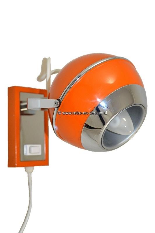 Retro vintage ball lamp, wall lamp, bullet lamp 60s,70s