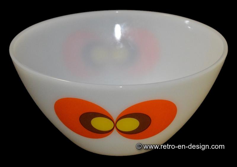Schott Mainz, JENAer Glas Carina, peacocks eyes. Bowl Ø 25 cm.