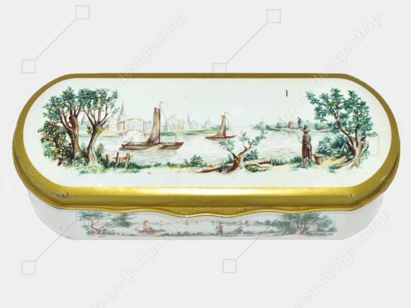 Vintage teaspoon tin made by Douwe Egberts for Pickwick tea