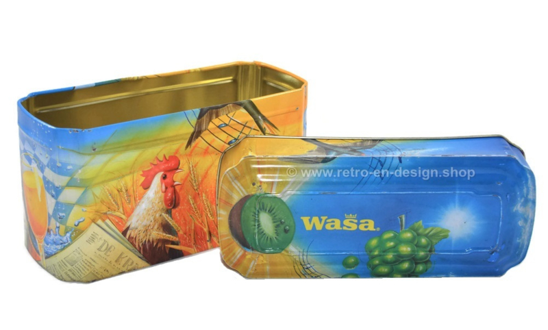 Vintage bewaarblik van WASA voor crackers