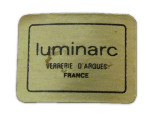 Vintage Arcoroc Luminarc France Octime Copa de champán en tallo negro