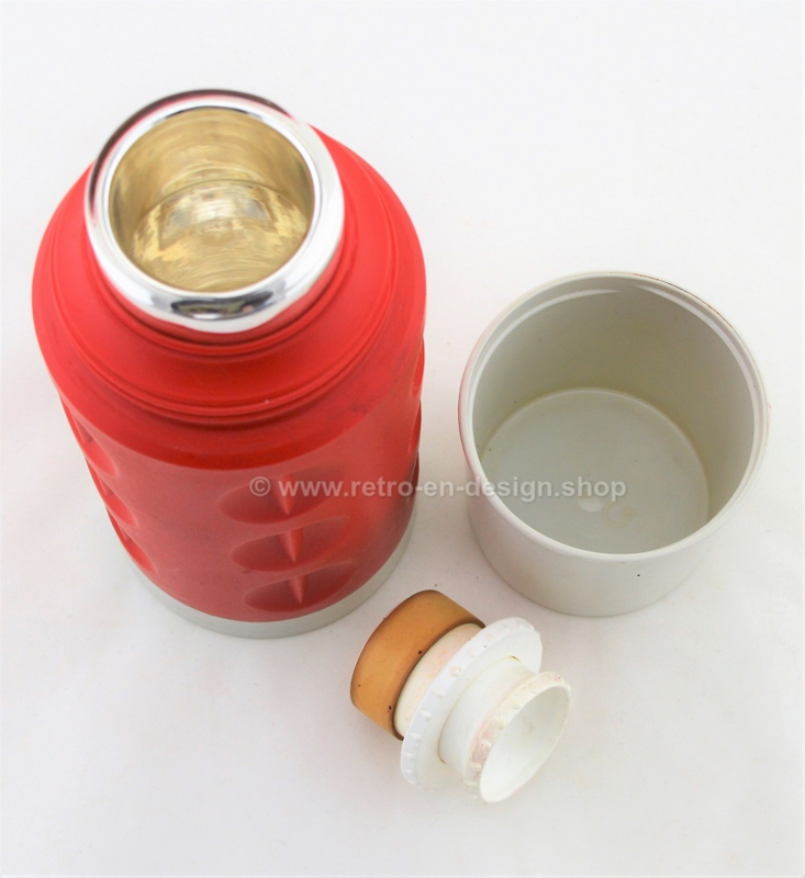 Vintage red 70s Rotpunkt Dr. Zimmermann thermos, West Germany