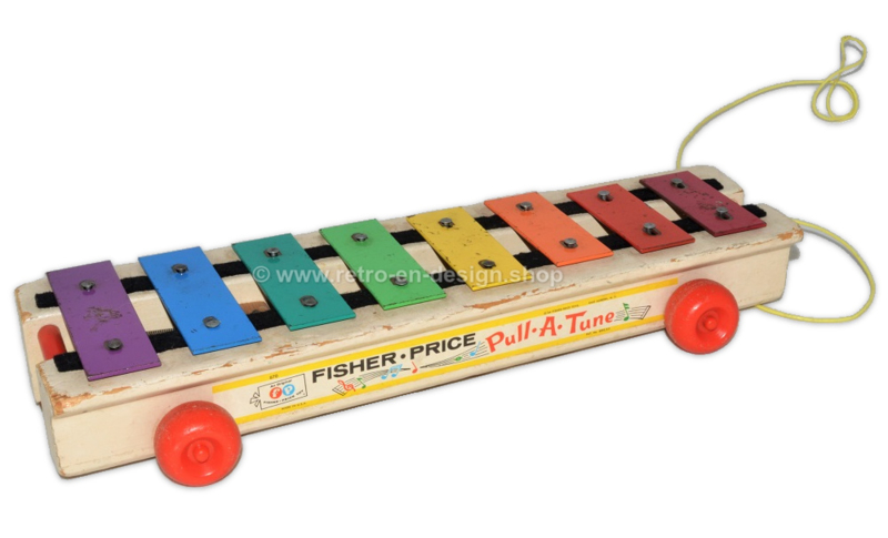 """Vintage Fisher Price """"Pull-a-tune"""" xylophone 1964"""