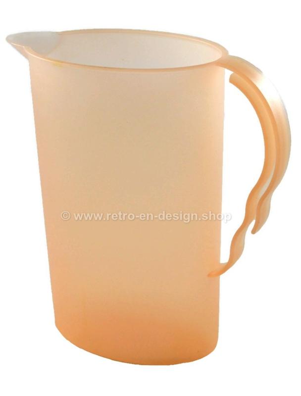 Tupperware Impressions waterkan, schenkkan in zalm-oranje