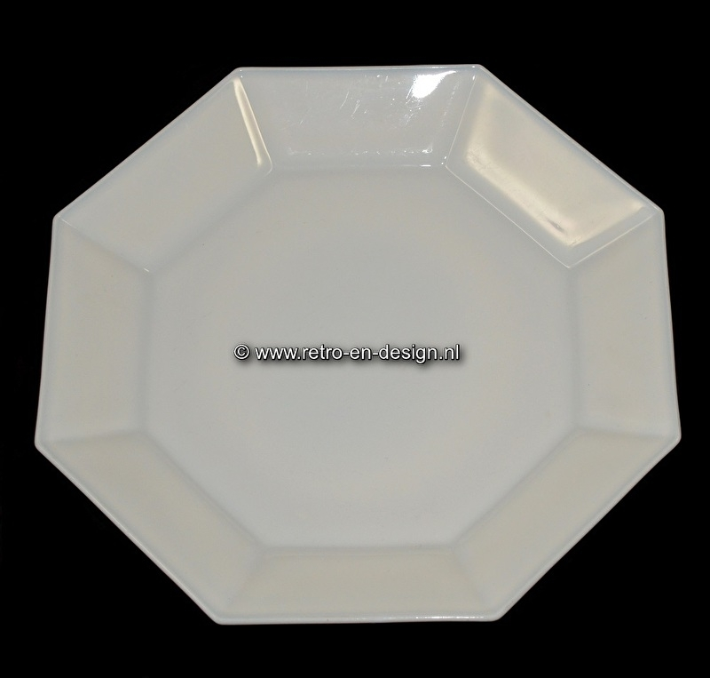 Wit ontbijtbord, Arcoroc France, Octime Ø 25 cm