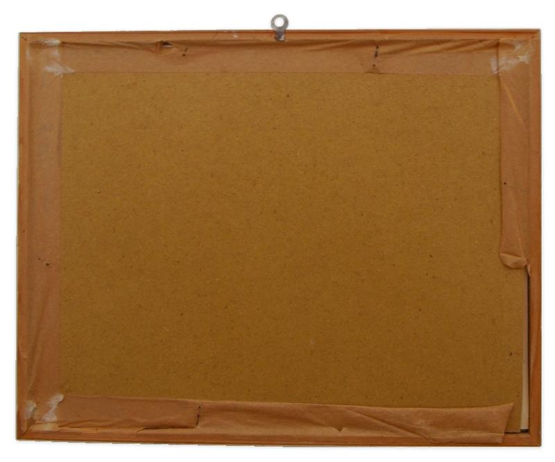 Illustration Awakenings, Bessie Pease Gutmann in a white wooden frame