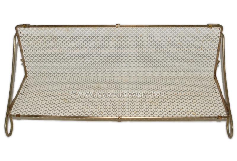 Étagère vintage en métal dans le style de Pilastro et Tomado, années 1950-1960