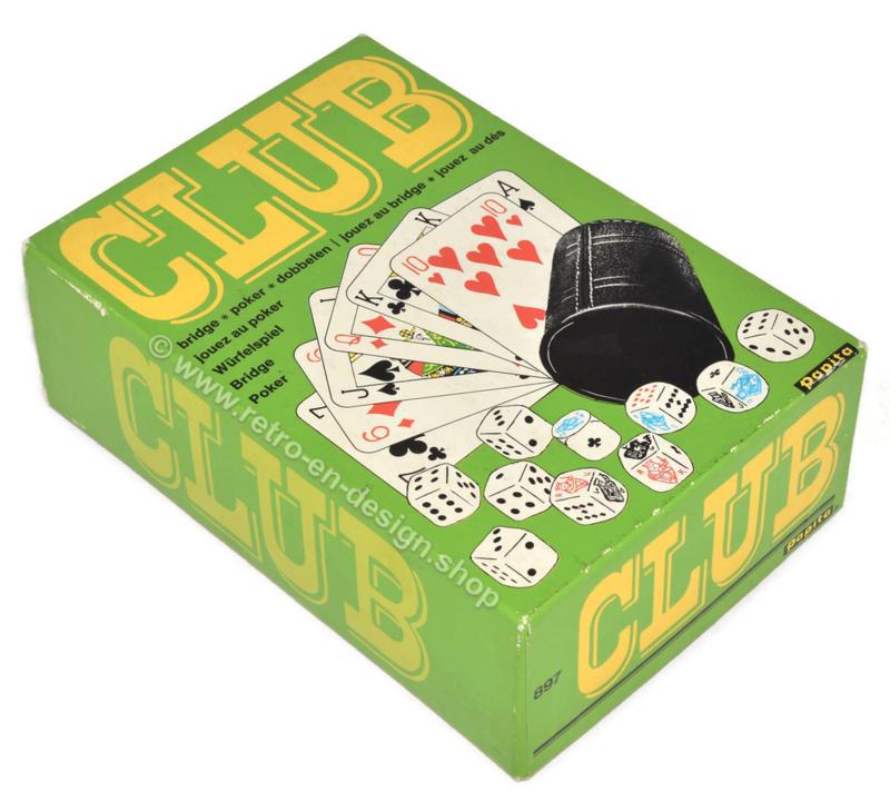 CLUB, vintage jeu de dés • Papita • 1975