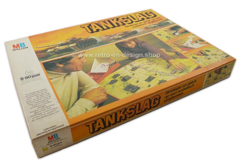 """Vintage spel """"Tankslag"""" van MB 1976"""