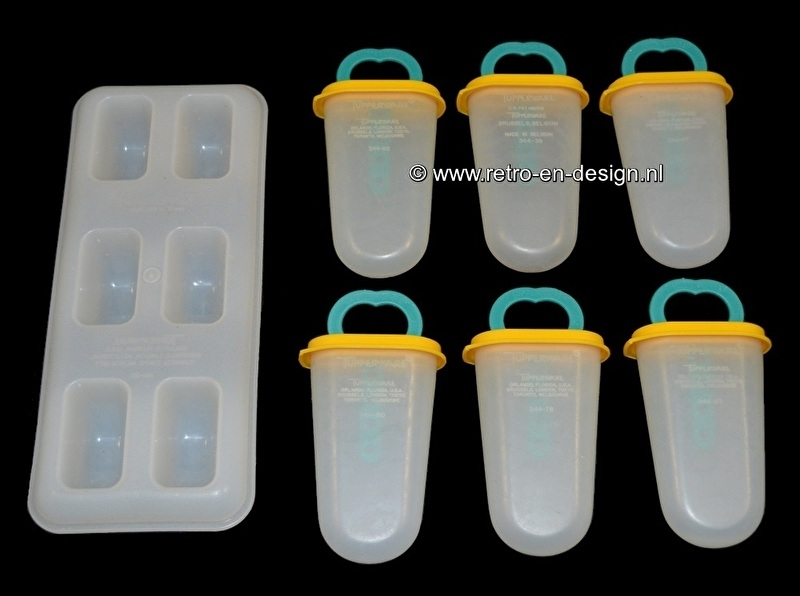 Ice maker, icelolly popsicle maker with holder, Tupperware