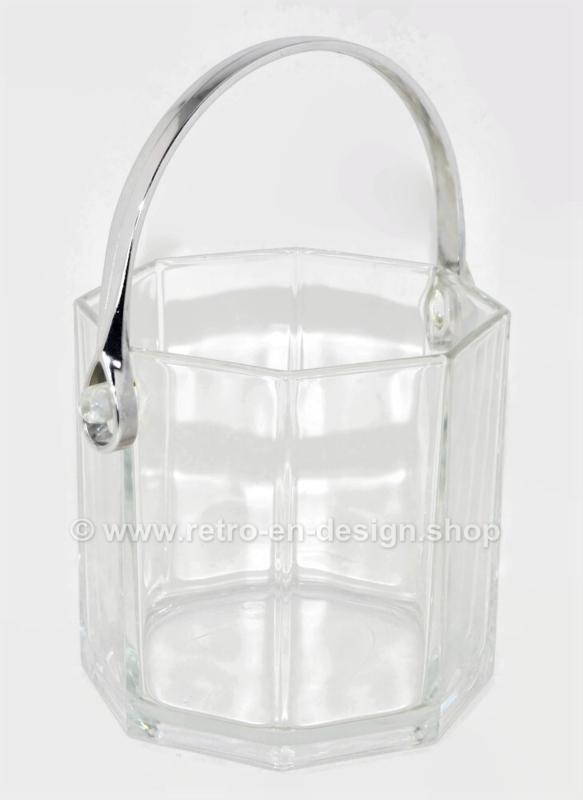 Cubitera vintage de vidrio transparente para cubitos de hielo de Arcoroc France, Octime-clear