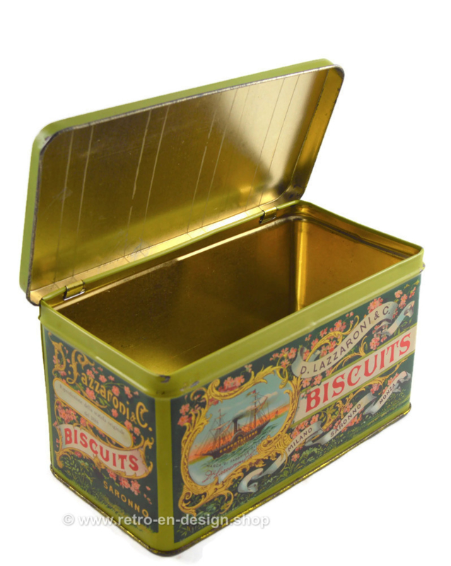 Vintage Italian tin made by D. Lazzaroni & C. for Biscuits