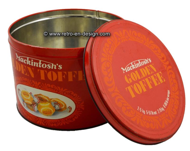 Vintage tin, candy drum Mackintosh's Golden Toffee