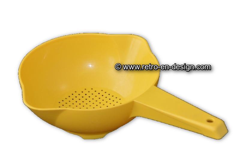 Vintage Tupperware vergiet of zeef met steel