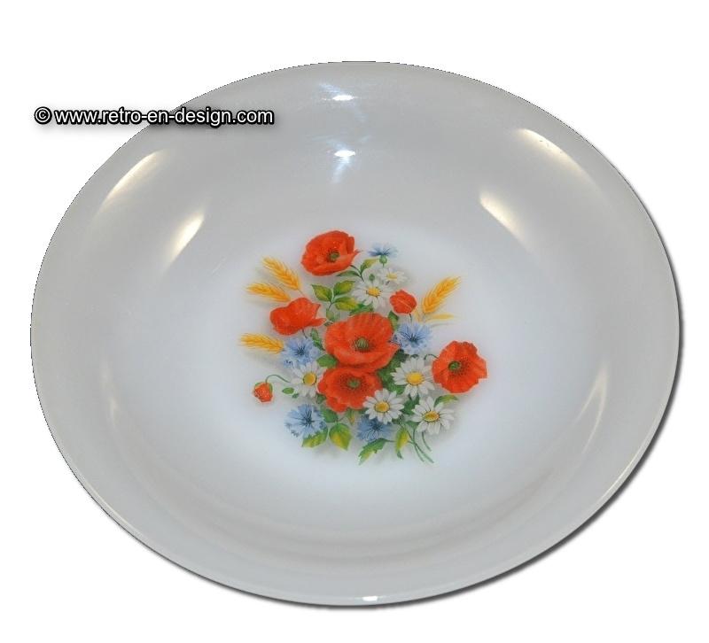 Arcopal France. Fleurs de Champêtre, Soepbord Ø 21 cm.
