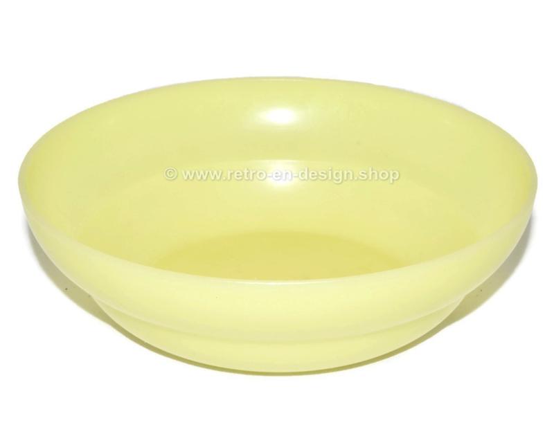 Vintage Tupperware pastelkleurige ontbijtkom, geel
