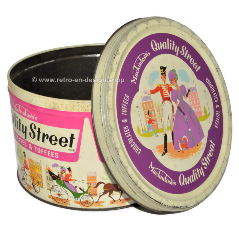 Vintage candy tin from the 60s - 70s by Mackintosh Quality Street