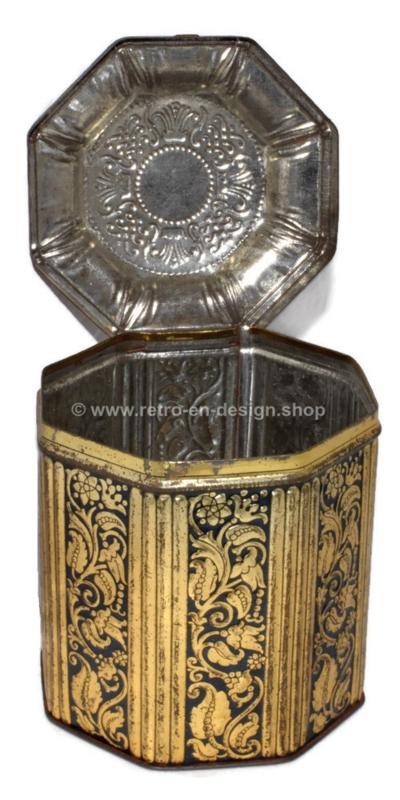 Achteckige Vintage Tabakdose aus der Tabakfabrik F. lieftinck Groningen, 1900 - 1940