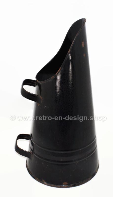 Vintage 1950s black coal kit, coal bucket or pellet kit