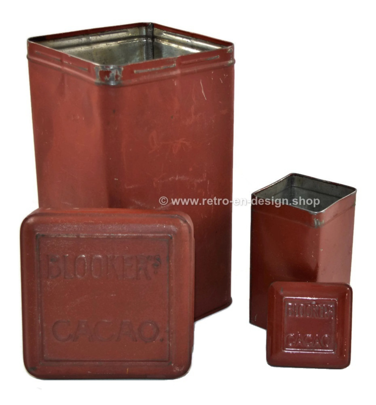 "Set of square tins for ""daalders"" cocoa by Blooker"