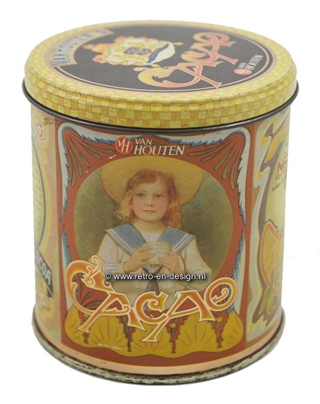 Boîte étain Van Houten Cacao/Cacoa