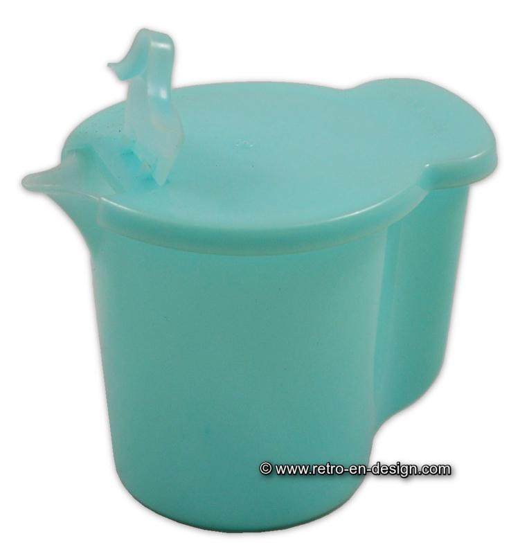 Vintage Tupperware melkkannetje pastelblauw