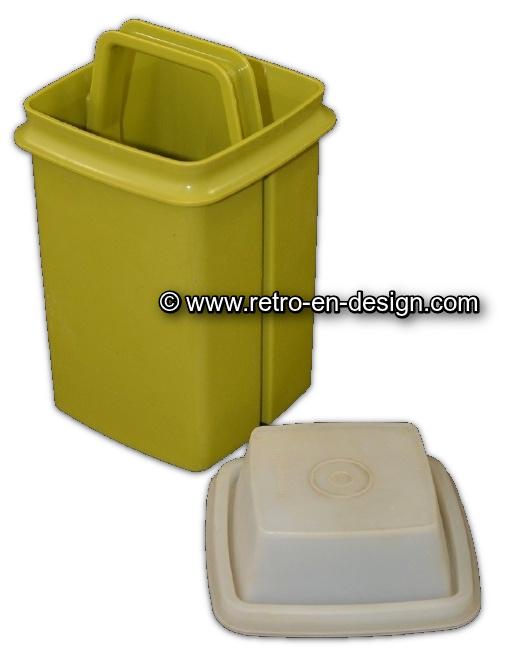 Vintage plastic green Tupperware pick-a-deli, small