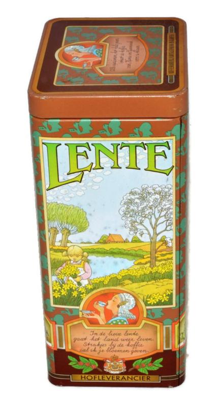 Kanis en Gunnink vintage koffieblik Jaargetijden, Lente, Zomer, Herfst, Winter