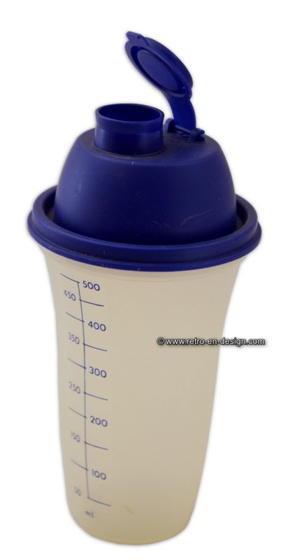 Vintage Tupperware 'All-in-One' Shaker mit Maßtasse