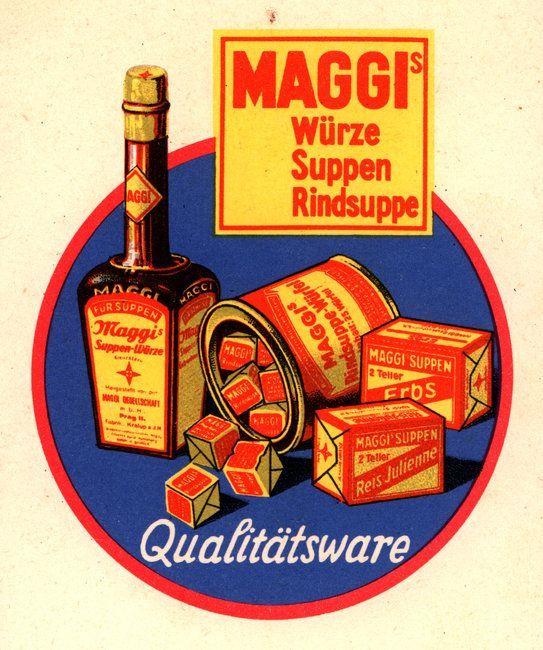 Large vintage tin Maggi bouillon-blokjes - bouillon cubes