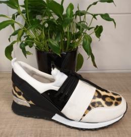 Sneakers wit/panter