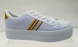 Sneakers  wit/geel
